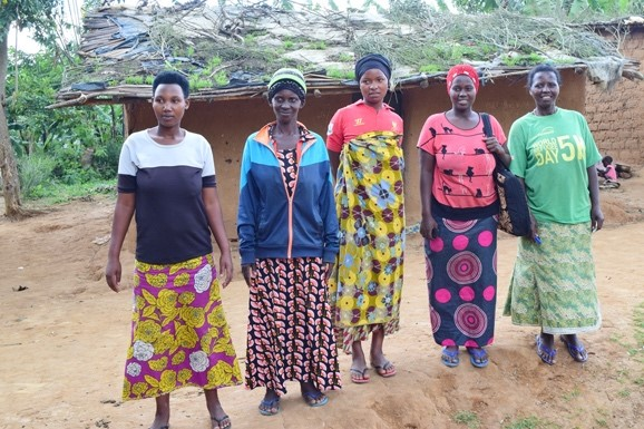 The five women pictured here make up the first team to be trained for the bakery.